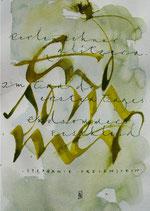 Kalligrafiepostkarte - September