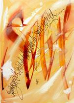 Kalligrafiepostkarte - April
