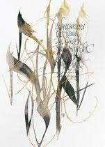 Kalligrafiepostkarte - Februar