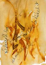 Kalligrafiepostkarte - Oktober