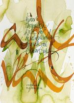 Kalligrafiepostkarte - Dezember
