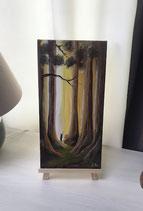 """Peinture de paysage """" les sequois """""""
