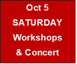 Saturday Workshops & Concert