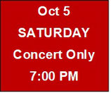 Saturday Concert Only