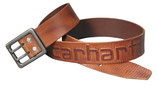 Carhartt - Ledergürtel Logo Belt