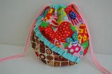 フリル丸巾着(Strawberry×Chocolate)サイズ小