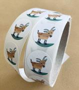 Sticker Ziege, Einzelsticker