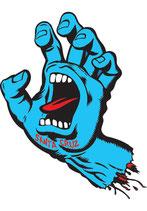 Santa Cruz Screaming Hand Sticker small