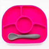 Assiette anti-dégât et cuillère en silicone
