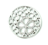 "Coin ""Strass flower"" silber"