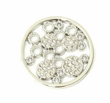 "Coin ""Strass bubbles"" silber"