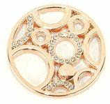 """Coin """"Circles"""" roségold mit Strass-Steinen"""