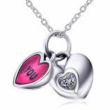 """Halskette mit Herz-Anhänger """"You & Me"""""""