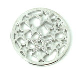 "Coin ""Strass star"" silber"