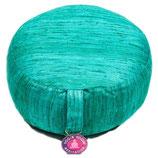 meditatie kussen smaragdgroen gemaakt van ruwe zijde