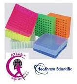 Gradilla con Tapa para 81 Microtubos de 1.5 - 2.0 ml. paquete con 5 piezas HEATHROW SCIENTIFIC