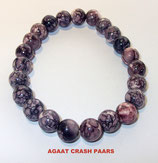 KS8AGCP KOGELARMBAND AGAAT CRASH PAARS SLOTJE