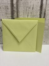 Umschlag für Karte  quadratisch verschiedene Farben