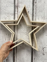 Holz Rahmen Set Stern