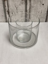 Glaszylinder 2 tlg