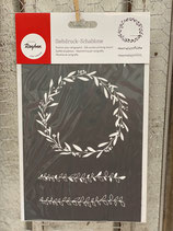 Siebdruck Schablone A5 Blätterranken