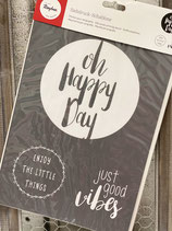 Siebdruck Schablone A4  Happy Day
