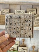 Stempelsatz Buchstaben modern