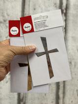 Wachs Dekorationsteil Kreuz groß versch.