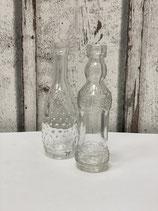 Set mit 2 Glasflaschen