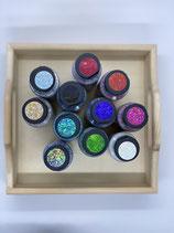 Stoffmalfarbe Extrem Glitter verschiedene Farben