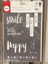 Siebdruck Schablone A4 Smile