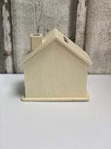 Holz-Haus Spardose