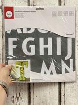 Schablone Buchstaben + Designs