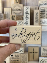Stempel am Buffet