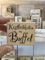 Stempel Köstlichkeiten am Buffet