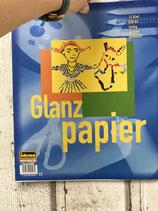 Glanzpapier, Block mit 12 Blatt
