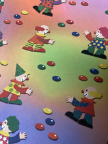 Tonkarton mit Clowns