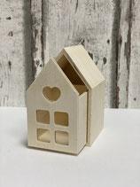 Holzhaus Herzchen mit Schublade