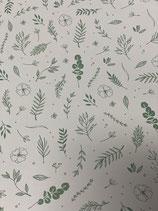 Tonkarton natur mit weißen Zweigen und Blüten
