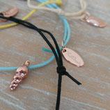 Enkelbandjes met schelp Rose & Zilver