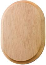 2 rosette legno naturale