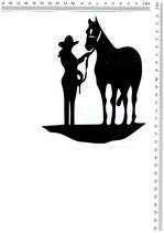 Cowgirl und Ross