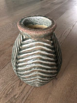 Vaas Antiek Keramiek Groen / Pot Antiek Keramiek Groen
