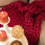 Chunky Knit Decke Bordaux