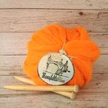 Vegane Wolle Orange 1kg