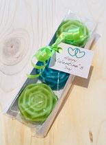 Seifen Rosen für den Valentinstag - in 2 Farben