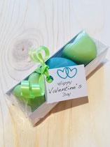 Seifen Herzen für den Valentinstag - drei Stück, in 2 Farben