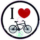 "Libre Sticker ""I love cycling"""