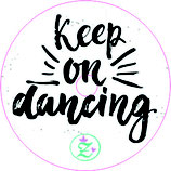 "NEU: Libre Sticker ""Keep on dancing"""