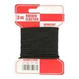 Gummikordel 1,3 mm schwarz